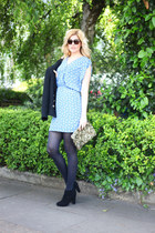 NU New York dress - new look boots - vintage jacket - Zara bag