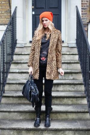 Mango coat - Francesco Biasia bag - Zara top