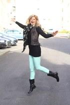 new look jeans - All Saints jacket - Alexander McQueen scarf - Uniq jumper
