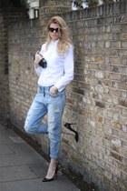 Zara jeans - Figaret Paris shirt - River bag - gianfranco ferre sunglasses