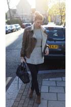 Report shoes - Helmut Lang jeans - asos jacket - bale bag - Atmosphere belt