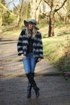 asos coat - Zara jeans