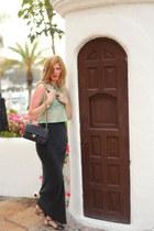 Chanel bag - sam edelman sandals - t by alexander wang skirt