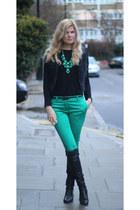 Oasis pants - Oasis boots - Zara top