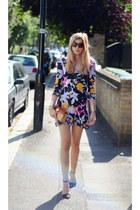 Diane Von Furstenberg dress - Zara shoes - Michael Kors bag