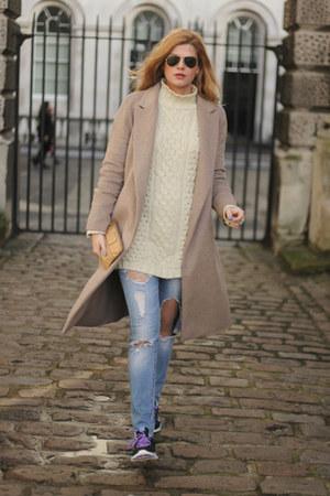 Zara coat - Zara jeans - Marc Jacobs bag