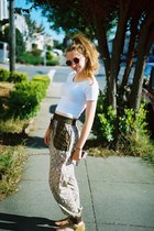 Urban Outfitters sunglasses - American Apparel top - DSW sandals