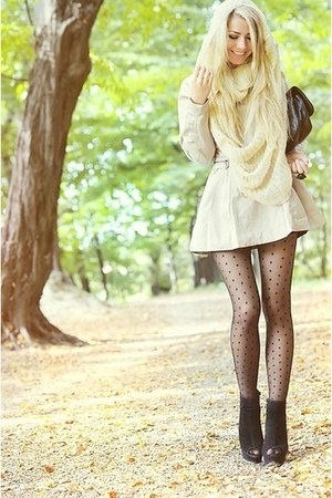 coat - tights - heels