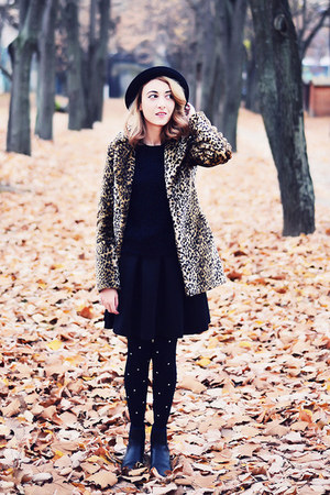 black asos boots - black House of Holland tights