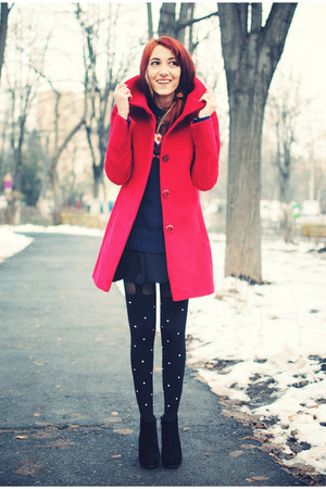 Fancy coat - pieces boots - House of Holland tights