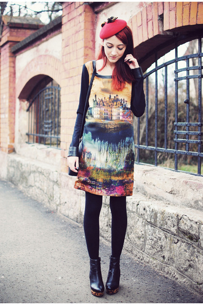 staccato boots - nissa dress