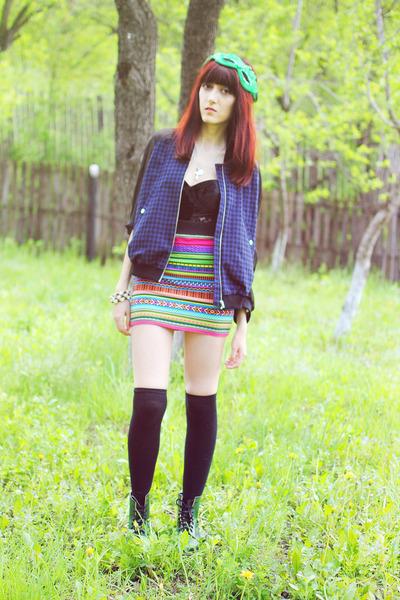 H&M skirt - Dr Martens boots