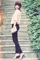 BBup heels - black Lee Cooper jeans