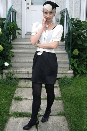 Urban Outfitters dress - Tristan blouse - tights - Globo shoes - vintage accesso