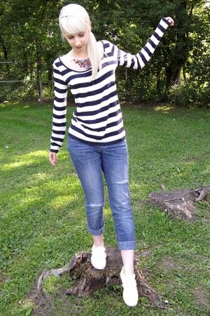 H&M necklace - Keds shoes - Jacob shirt - DIY jeans