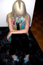 Matthew Williamson for H&M scarf - H&M pants - H&M shoes - vintage top