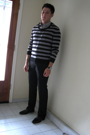Margiela sweater - Zara shirt - Theory pants