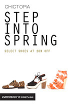 Step Into Spring With 20% OFF Shoes At Chictopia Shop!