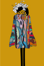 blue Yellow Bird Machine dress - white Amy Martino accessories