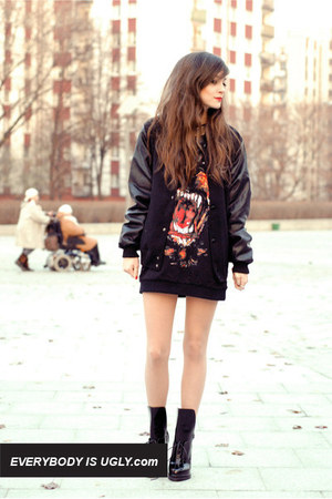 black boots - black Choies jacket