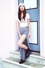 H&M boots - H&M hat - H&M shirt - H&M skirt