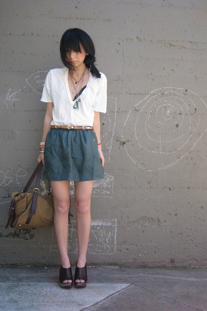 Urban Outfitters t-shirt - Urban Outfitters skirt - Urban Outfitters belt - Urba