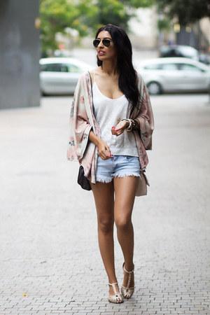 pink kimono top