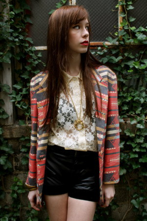 blazer - shorts - blouse