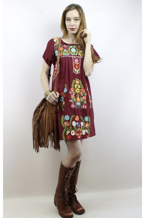 cotton vintage 70s embroidered mini dress dress