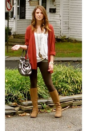 bronze born boots - dark brown Express leggings - silver Gianni Chiarini bag