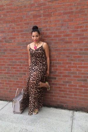brown Sheinside dress