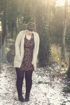 George of ASDA cardigan - asos - Primark tights - Dorothy Perkins boots