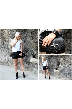Givenchy bag - Zara boots - leather VANESSA BRUNO shorts - Hermes bracelet