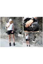 Givenchy bag - Zara boots - leather VANESSA BRUNO shorts - Hermes bracelet