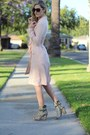 Light-pink-trench-coat-rehab-clothing-coat-ivory-h-m-shorts