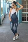 Navy-overalls-nordstrom-jeans-white-one-piece-oye-swimwear-swimwear