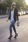 Navy-express-jeans-black-black-blazer-h-m-blazer