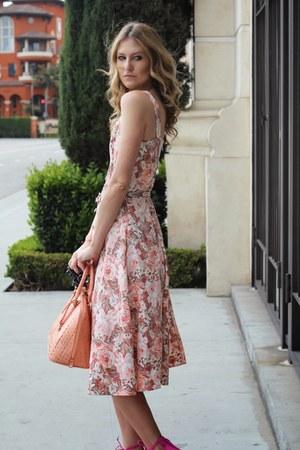 coral pink bag brahmin bag - coral floral dress new york and co dress