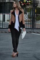 Sole Society heels - Hudson jeans - tawny aryn k jacket