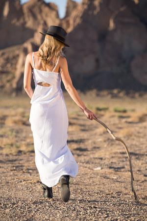 black Forever 21 hat - white Lulus dress