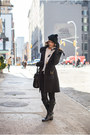 Leather-salvatore-ferragamo-boots-wool-mango-coat-cotton-h-m-hat