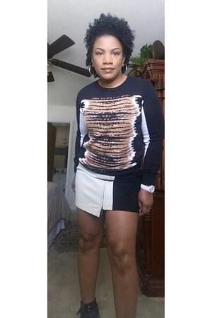black Rebecca Minkoff sweater - white Rebecca Minkoff skirt