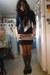 black LA Kitty jacket - black necklace - heather gray Hanes top - black Oxford &