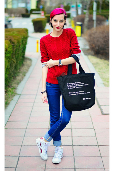 Mango sweater - tote nowIStyle bag