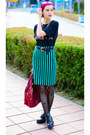 Nowistyle-bag-oversize-second-hand-shirt-stripe-nowistyle-skirt