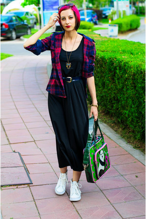 panda Rosalita Mc Gee bag - nowIStyle dress - plaid cichic shirt
