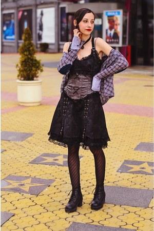 steampunk dress second hand dress - Zara shirt