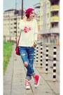Ripped-diy-jeans-nowistyle-sweatshirt-platform-nowistyle-sneakers