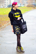 batman hoodie sweatshirt - tote nowIStyle bag - military nowIStyle skirt