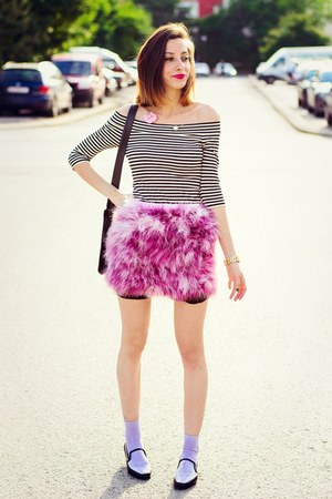 Choies skirt - transparent & other stories flats